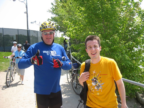 Gord Love and James Dunne at ScotiaMcleod Rosedale Branch Dragon Boat Race Training
