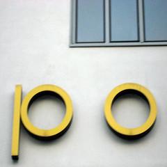 staring at posteriors (DREASAN) Tags: shadow distortion blur yellow munich münchen typography letters blurred po paleblue buchstaben daysbetweenstations dreasanpics ©dreasanavb