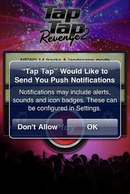 tap tap push notification