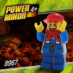 Power Minor (Morgan190) Tags: minifig custom m19 minifigure morgan19 powerminers powerminor