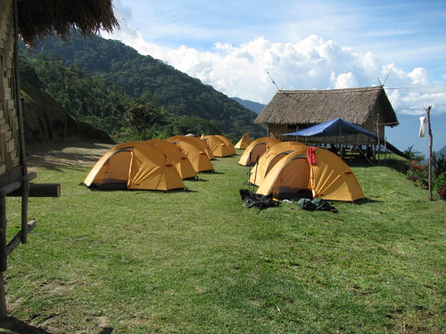 Camp site at Aola, Kokoda Track, Papua New Guinea