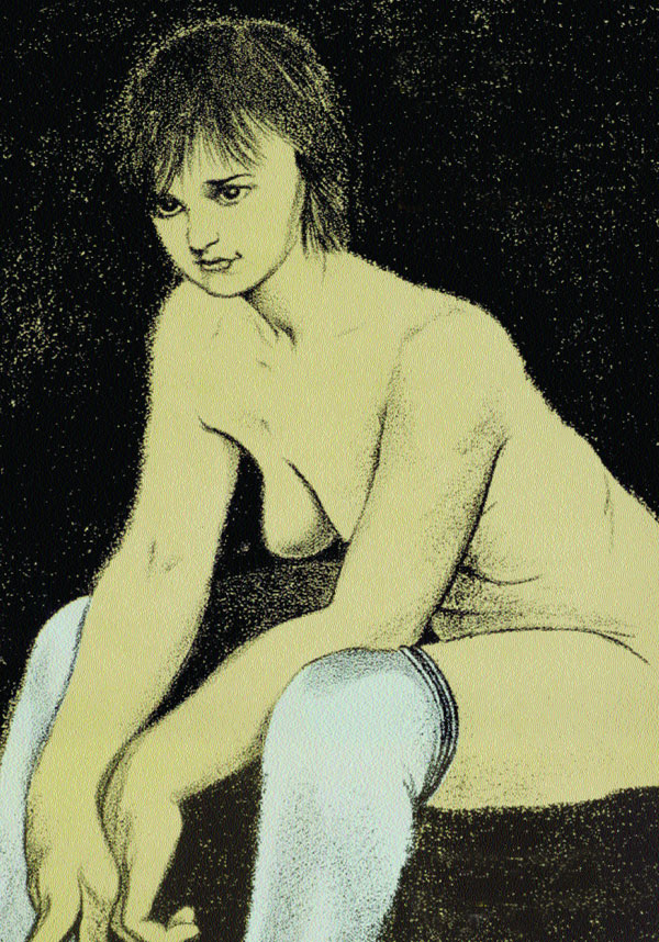 Ron B. Kitaj: Barceloneta, 1979. Litografía (78,8 x 56,6 cm)