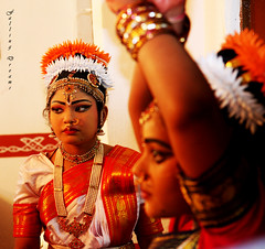 Kuchipudi # 4 (Falling Dreams) Tags: portrait india white flower art girl smile canon dance eyes women flickr indian desi dreams indians wish tradition hyderabad potrait 2009 hpc kuchipudi indianart        hyderabadi  40d    canon40d  fallingdreams  hamarahyderabad