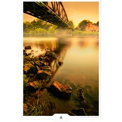 Bridge & Stones (Gert van Duinen) Tags: longexposure bridge germany canal europe digitalart landschaft landschap emsland dortmundemskanal neutraldensity dutchartist nd1000 nd110 nd30 landschaftsaufnahme infinestyle bratanesque ndgrad09 gertvanduinen bwnd301000x110 obramaestra explore8on20090626