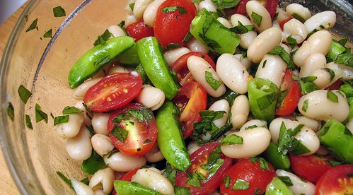 white bean and snap pea salad