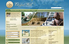 New TownOfChapelHill.org [screenshot added by OP editor]
