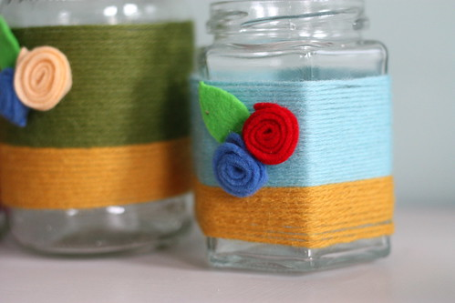 Colorful Yarn Votive Tutorial