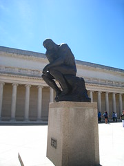 The Thinker by Rodin (moviehound75) Tags: sanfrancisco california sculpture bronze marble rodin legionofhonor thethinker bobdenver dobiegillis