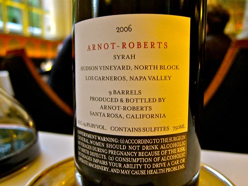 Arnot-Roberts Hudson Vineyard, North Block Syrah 2006
