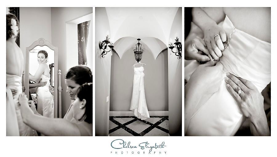 elegant getting ready bridal portraits
