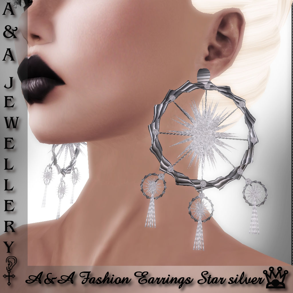 A&A Fashion Earrings Star Silver