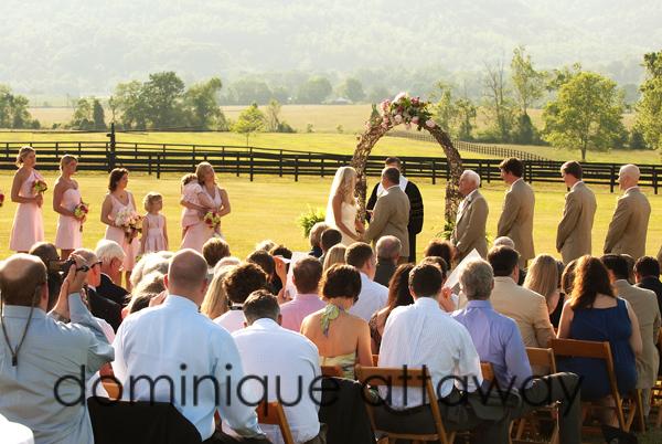 wedding cermeony king family vineyards