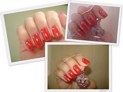 Bom e velho vermelho (Nana MB) Tags: nail polish hits risque esmalte flocado