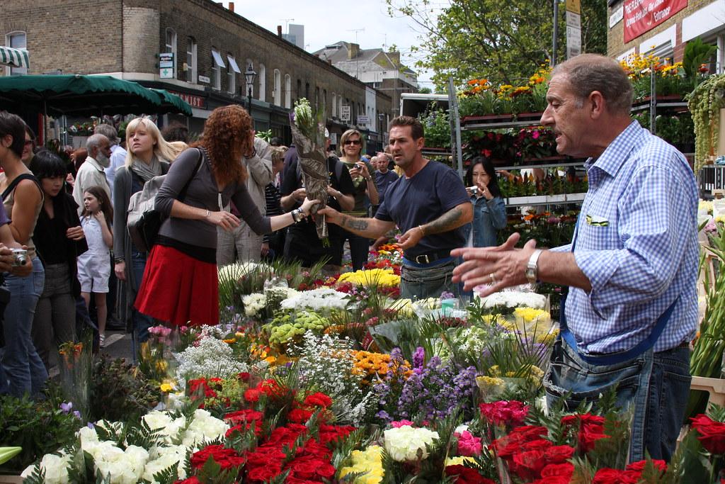 Columbia Road Flower Market, London.