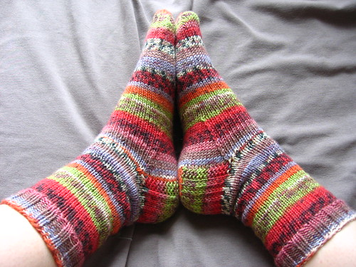 Finished stripe socks 2