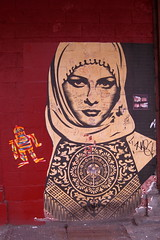 NYC - Meatpacking District: OBEY Giant Arab Wo...