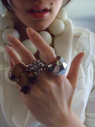 Rings, Forever 21 (minus the raindeer, its borrowed from Jen-Jen)