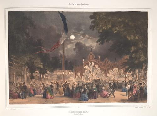 017- Paris- Fiesta de las lilas en el jadin Bullier 1858