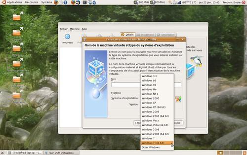 Windows Se7en supporté par Virtualbox