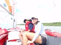 Nicholas & Adriana aboard the Windrider (S0Cal) Tags: boys costarica sailing adriana nicholas windrider trimaran