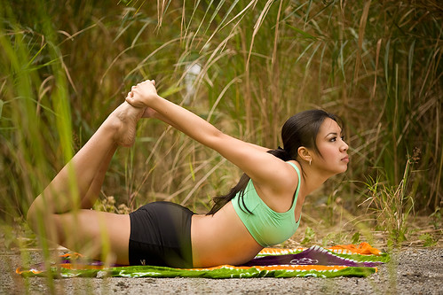 female yoga outdoors