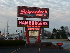 Danville, IL Schroeder's Drive-in neon sign (army.arch) Tags: sign downtown neon drivein il neonsign danvilleillinois burgerchef