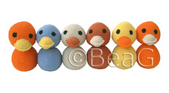Ducklings (Eendjes) (Made by BeaG) Tags: blue orange brown cute animals yellow creativity beige colorful artist acrylic belgium sweet handmade unique kunst crochet duckling tan belgi ducklings yarn softies creation cotton stuffedanimals colourful crocheted stuffies softtoy blackeyes softy softtoys stuffie eendjes beag kunstenares crochetedanimals crochetedducklings gehaakteeendjes madebybeag gemaaktdoorbeag