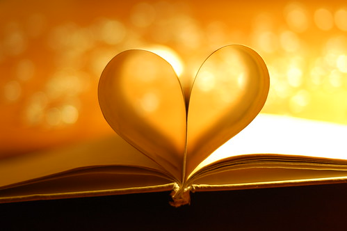 Book Heart Bokeh.
