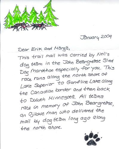 John Beargrease Letter