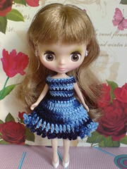 Chic in blue matiz for Petite Blythe [to USA]