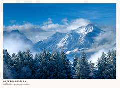 three sisters (gregor H) Tags: morning blue winter mountain austria cloudy threesisters vorarlberg bersaxen dreischwestern