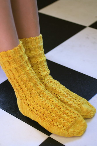 TTL Mystery Socks in MadTosh 'Chamomile'