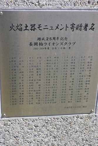歴博の火焰土器の巨大オブジェ