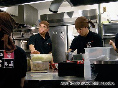 The ramen chefs