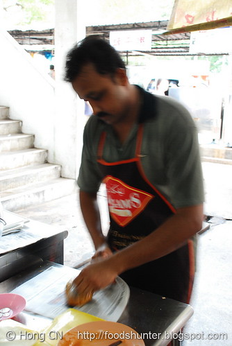 Mr. Narayanan doing packaging