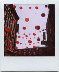 cherries (davebias) Tags: nyc red polaroid sx70 chinatown 600 lanterns filmset thesorcerersapprentice