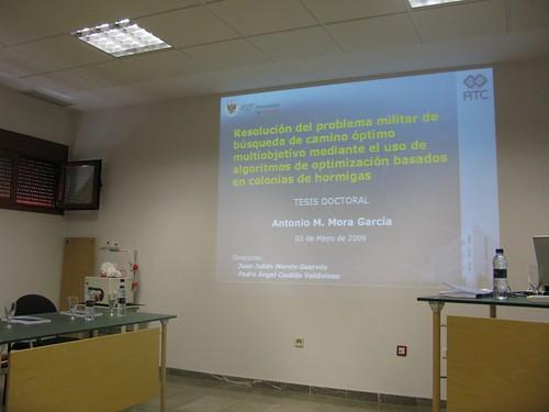 Presentación tesis doctoral Antonio