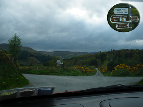 Scenic drive around Lough Dan