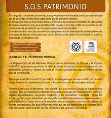 """Panel 1, Exposición """"S.O.S. Patrimonio"""""""