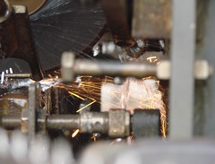 Fire & water (*Amanda Richards) Tags: water metal fire air equipment sharpening 5elements theelements