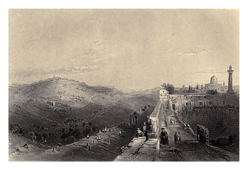 006-Monte de los olivos desde el muro-Bartlett, W. H. 1840-1850