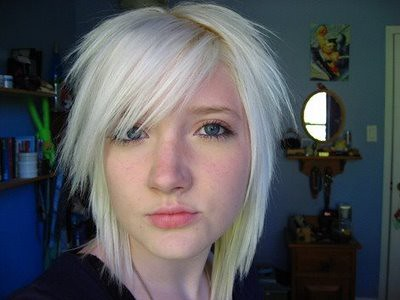 short-blonde-emo-hairstyle