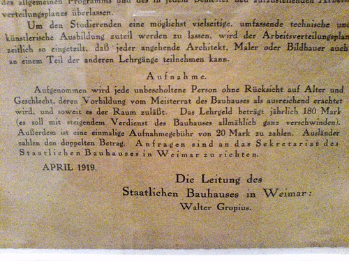 Bauhaus Weimar 1919