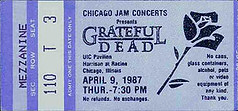 GDTS Ticket for Grateful Dead - UIC Pavilion, University of Illinois - Chicago 4/9/87 [borrowed from www.psilo.com]