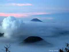 Three Mountains (1) (Luciana Adriyanto) Tags: indonesia java scenery mt east bromo semeru tengger batok mahameru