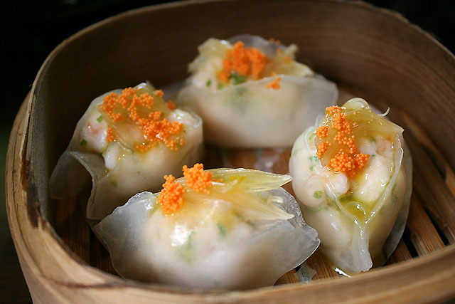 Steamed Shark's Fin Dumpling with Dried Scallop and Shrimp