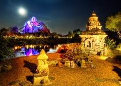 Moonlight over Everest (Stuck in Customs) Tags: lighting travel family blue vacation usa moon lake cold color reflection colors fruits yellow fruit fairytale composition wonderful dark fun temple photo orlando amazing cool fantastic warm photographer shot florida sweet disneyland buddhist magic picture deep surreal disney textures disneyworld frame temples processing mickeymouse offering roller rides top100 portfolio inspirational capture yeti coaster everest hdr impressive magickingdom trey rollercoasters treatment expeditioneverest instinct themoon memorable briliant theyeti stuckincustoms thehimalayas thetechniques amgician