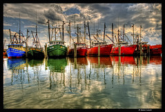 7 Boats (James Loesch) Tags: reflection boats newjersey barnegat barnegatlight obramaestra