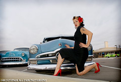 Model Viviane @ The El Cajon Classic (christopherallisonphotography.com) Tags: california red cars ford girl truck vintage bench lights model eyes women classiccar doll pretty pumps sandiego sony tail elcajon lips retro gal bumper chrome hotrod rockabilly buckets alpha pinup desoto carshow fins a300 rockabillyboy72 christopherallisonphotography