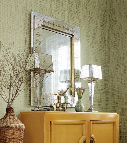 metallic wallpaper modern. Modern wallpaper: Sage green